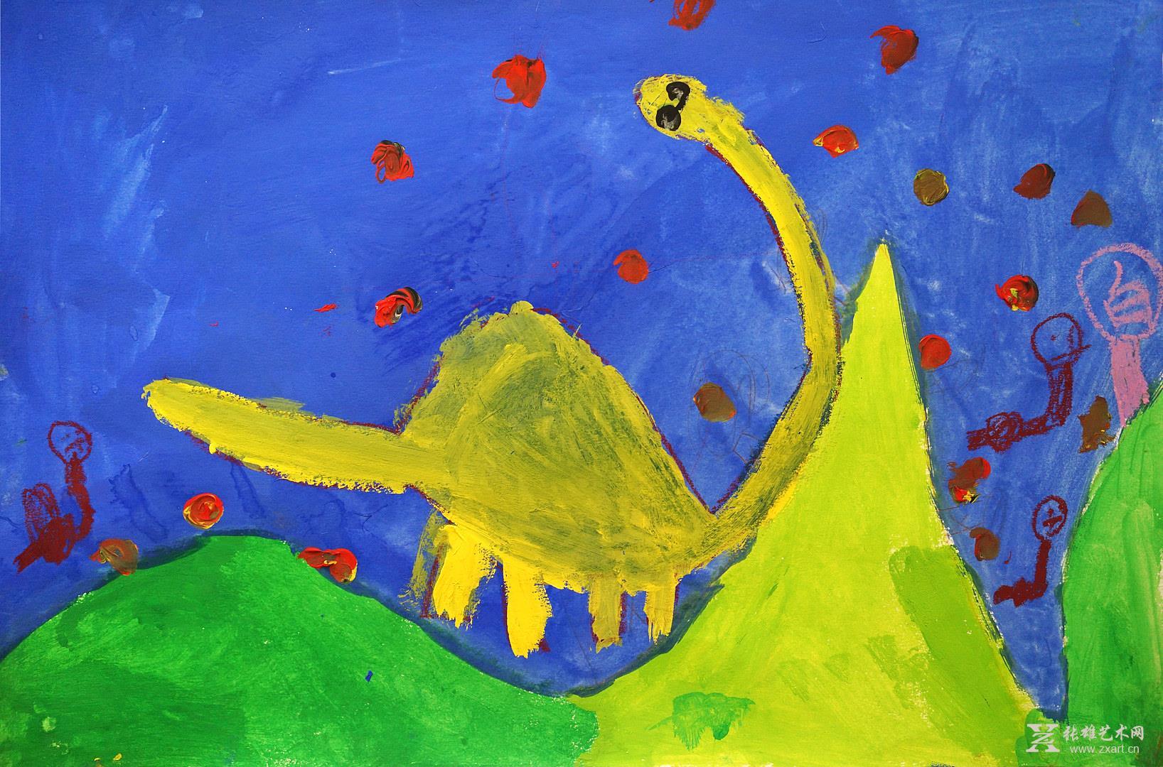 幼儿园树叶粘贴画图片大全恐龙